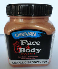 PAINTING - DERIVAN METALLIC FACE PAINTS - 1 BRONZE 250ml bottle