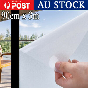 90cm x3m Window Film Decor Privacy Frosted Self-adhesive Sticker Removable AU