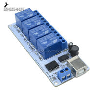 12V 4-Channel USB Relay Board Automation Module For Arduino with cable