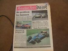 Motoring News 5 June 1985 Acropolis Rally Willhire 24 Hours Belgian GP Spa F3000