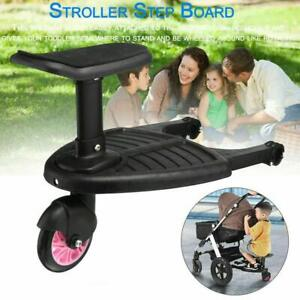 Universal Buggy Stand Board With Seat Stroller Pram Pushchair Connect Load HOT