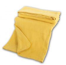 Bio Kuscheldecke aus 100 % Baumwolle 150x200cm, gelb, Wohndecke organic cotton