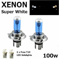 H4 100w SUPERWHITE XENON (472) UPGRADE Headlight Bulbs 12v +501 LED Sidelights B