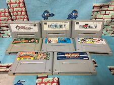 Super Famicom 8 game set Japan NTSC-J Chrono Trigger Adventure Island