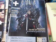 Magazine canal + janvier 2013 game of thrones cloclo le vol des cigognes hollywo
