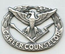 Lot of 40 US Army Career Counselor Badges new in pkgs full size silver