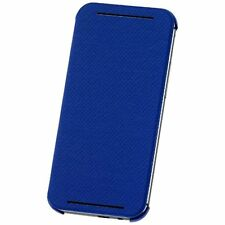 NEW Genuine Official HTC One M8 Double Dip Flip Case Cover Wallet Blue HC V941