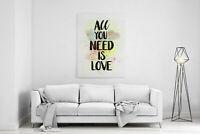 """Bild Leinwand Aufhängung /""""All you need is Love/"""" Bild mit Schnur Bild Canvas"""