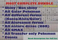 ✨Pokemon Sword Shield All 598 Complete Galar Pokedex Pokemon Home✨Fast Dlvr