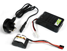 RC Receiver 1200mah 6v Battery Pack Charger Compatible JR JST Hump 5 Cell MH-8S