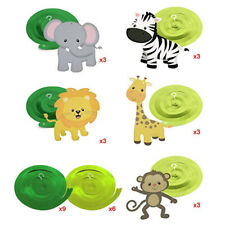 30 Pack Safari Animal Jungle Ceiling Hanging Swirl Decors Festive Party Supplies