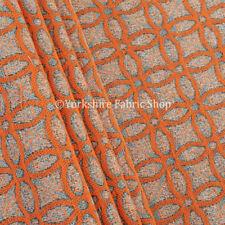 Tessuti e stoffe arancione Geometrico ciniglia per hobby creativi