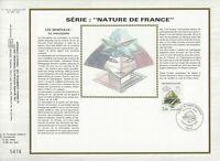 Foglio CEF 1er Giorno Sul Seta Francia Serie Natura Di Francia La Marcasite 1986