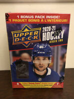 2020/21 Upper Deck Series 2 Hockey Factory Sealed Blaster Box-YOUNG GUN RC