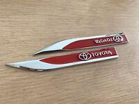 Red Metal Toyota Side Badge Sticker for Toyota Hilux Prado Rav4 Camry Corolla