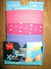 Womens HANES CONSTANT COMFORT X-TEMP MODERN BRIEFS 3 PACK  2XL / 9 NEW panties