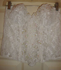 NATORI~ladies~GORGEOUS/BEADED/white/LONG/LINE/BRA! (36/B) BRAND/NEW! @@ wow!
