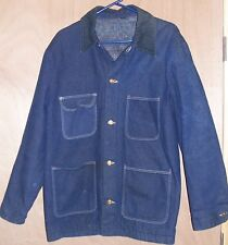 Size Xl 46 Mens Old Wrangler Blue Denim Indian Blanket Lined Coat Jacket Western