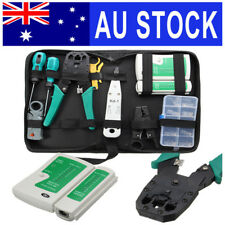 AU Lan Network Data Cable Tester Crimper Punch Down Tool Stripper 11 in 1 Kit ε