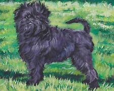 """Affenpinscher dog art canvas Print of lashepard painting Lshep 8x10"""""""