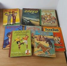 8 1950's Vintage Children's Annuals incl Rudyard Kipling, Film Fun, Tiger Tim's