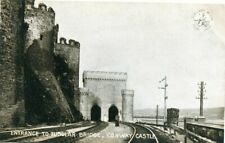 CONWAY CASTLE  TUBULAR BRIDGE - LONDON & NORTH WESTERN RAILWAY OFFICIAL POSTCARD
