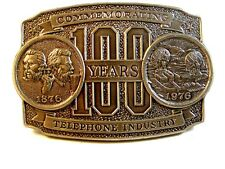 Gedenk 100 Years Telephone Industrie Silberfarben Gürtel Buckle