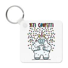 Yeti Confetti Keyring Key Chain - Funny Animal