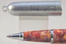Fuliwen Autumn Marble Celluloid Ballpoint Pen with Keychain & Lion Design