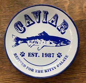 """Whisker City """"CAVIAR"""" Ceramic Blue Saucer 5"""""""
