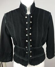 Miss Me jacket size unknown black cropped 3/4 sleeve hook closure fitted