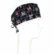 Pink Panther Theme on Black Background Scrub Hat