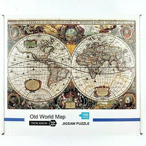 OLD WORLD MAP Jigsaw Puzzle (1000-Piece)  Ages 14 + Unisex Puzzle Games New