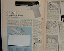 """ORIGINAL Article """"COLT Model 1911 .22-.45 Conversion Unit"""" 2-p Magazine 1963"""
