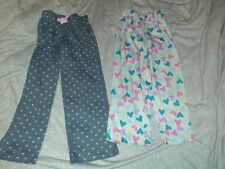 Lot of 2 Pajama Pants With Hearts Kids Size 6