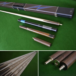 """57"""" Handmade 3/4 Snooker Cue Set with Stunning Case and Telescopic Extension"""