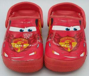 Lightning McQueen Crocs Disney Pixar Cars Child Toddler Size C12 Red