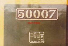 PHOTO  CLASS 50 NUMBERPLATE 50007 SIR EDWARD ELGAR