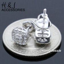 Icy Diamond Screw Back Stud Earring*Ae193 Men Women 925 Sterling Silver 6Mm