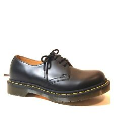 Dr Martens Women's Smooth Black Leather 3-Eye Oxford Shoes 8 NEW 11837