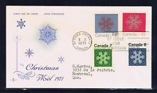 Canada #554-7(1) 1971 6,7,10 & 15 cent RARE CHRISTMAS COMBO CFDC OTTAWA ONT