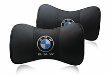 Shwartz Farbe BMW Paar Lederkopfstütze Kissen Auto Sitzkissen Nackenstütze
