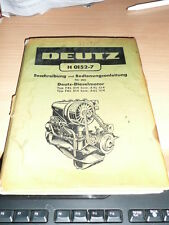 catalogue MANUEL MOTEUR DEUTZ H 0152 7 EN ALLEMAND