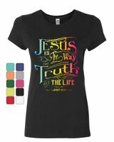 Jesus Is the Way Women's T-Shirt Truth Life Bible Religion God Lord Pray Shirt