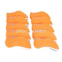 10PCS Orange Golf Iron Cover Headcovers For Cleveland Callaway Bridgestone Ping