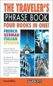 Traveler's Phrase Book- Costantino, Mario- 2nd ed FRENCH GERMAN ITALIAN SPANISH