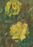 20th Century Oil - Yellow Roses