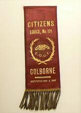 🍁 Odd Fellows Ribbon Colborne Citizens Lodge 121 #2725
