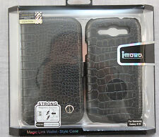 SAMSUNG GALAXY S 3 BLACK  iMOBO STRONG MAGIC LINK LEATHER WALLET STYLE CASE NEW