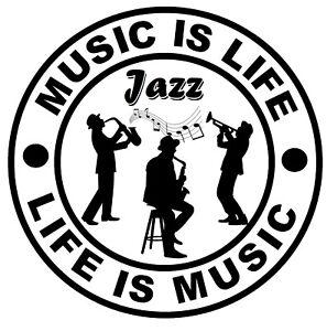 Musique If Life (Jazz Musique) - Fun Voiture / Autocollants pour